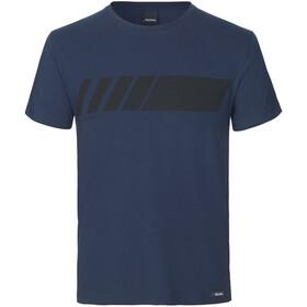GripGrab Racing Stripe Maglietta in cotone biologico, blu